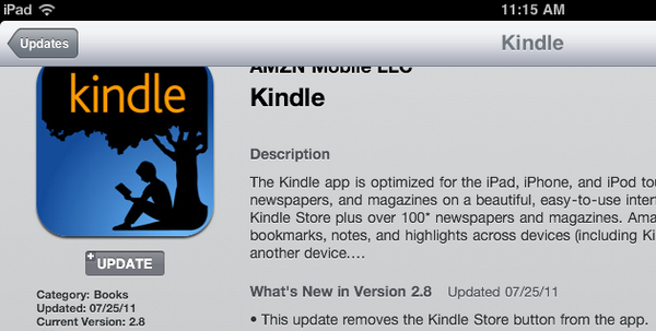 Laptop Thoughts: Today's iPad Kindle App Update Removes
