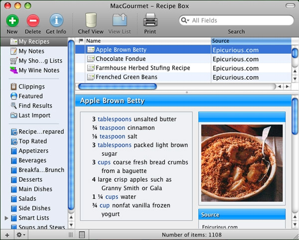 MacGourmet Screenshot