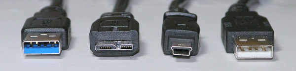 USB 2.0 and 3.0 connectors