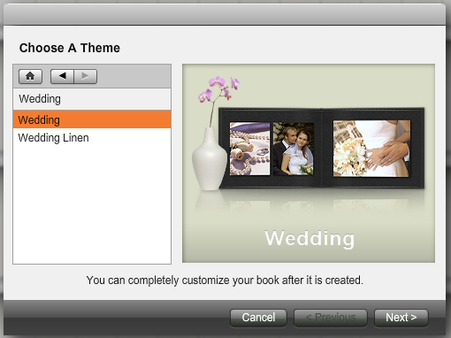 Figure 3 Selecting A Theme Is The First Step In Creating Your Book
